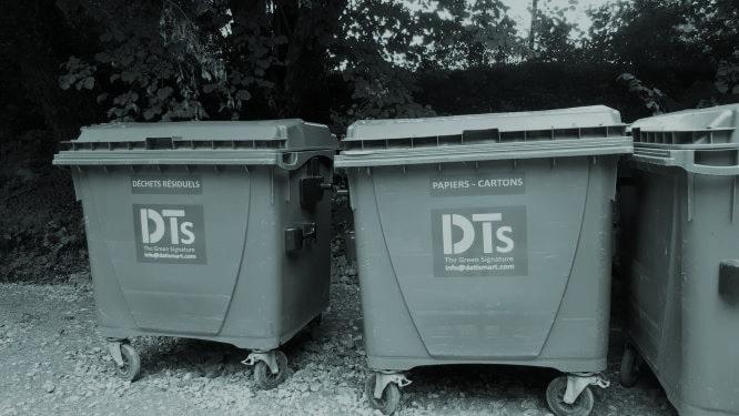 poubelles à roulettes - conteneurs