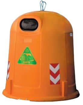 Bulle à verre en PEHD 3500 litre à fond conique distribuée en Wallonie et en Belgique