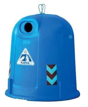 Bulle à verre en PEHD 2500 litre à fond plat distribuée en Wallonie et en Belgique