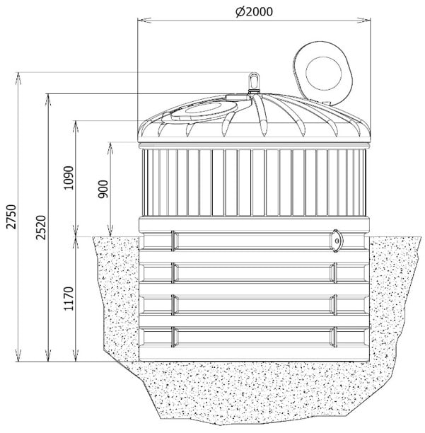 semi enterre schema